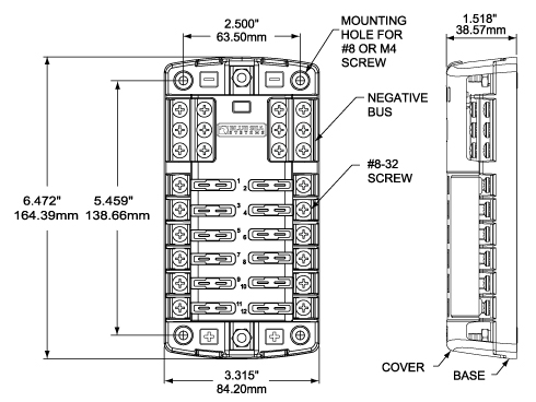 Austin Healey Wiring Diagrams St Blade Fuse Block 12 Circuits With Negative Bus And