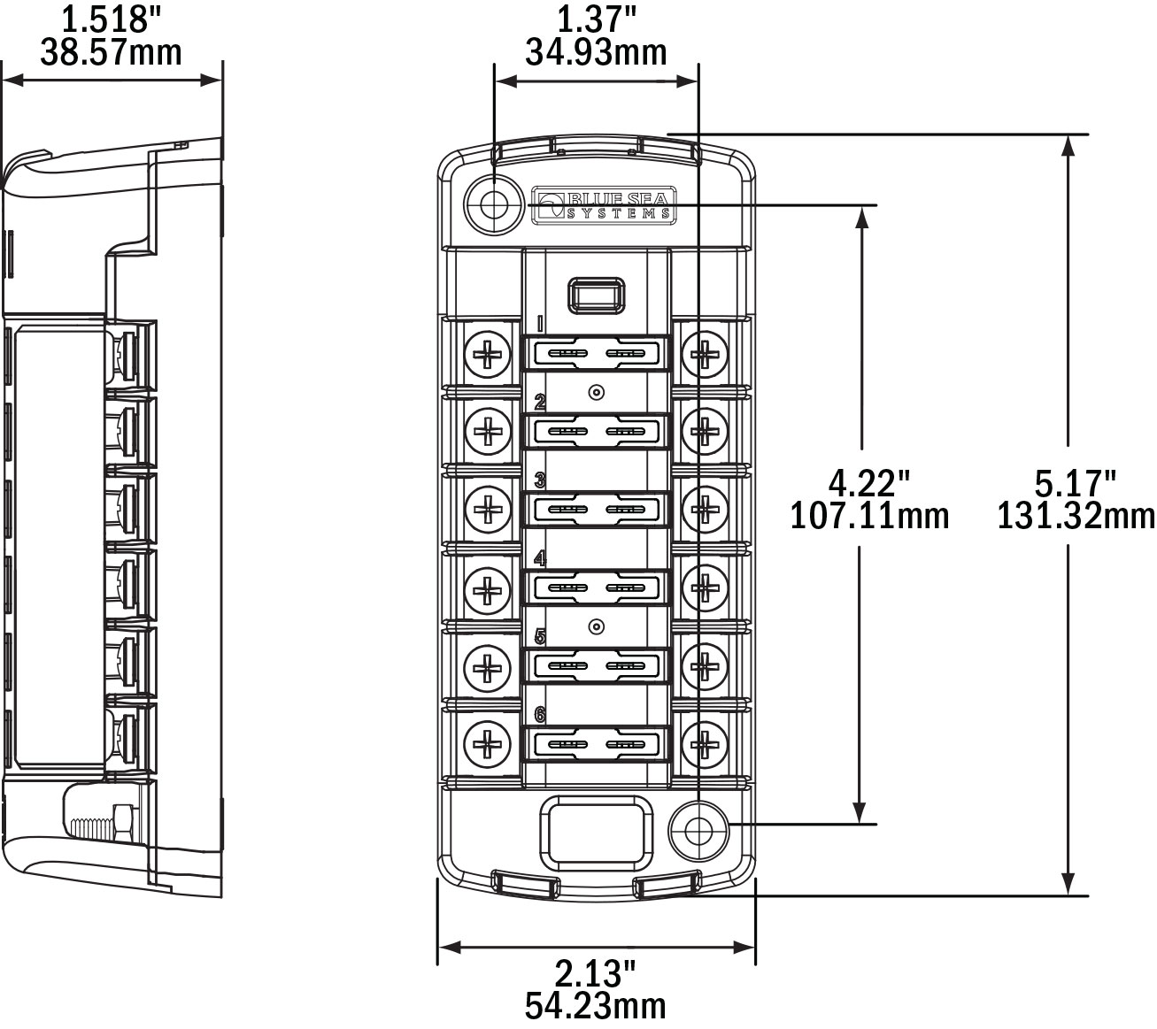 boat fuse panel wiring diagram jensen blue sea independent sourced circuit st blade blocks
