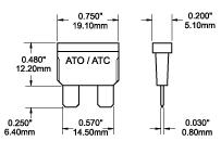 Fuse ATO/ATC 1 Amp (Pair) > ATO/ATC, ANL, & MAXI Fuses