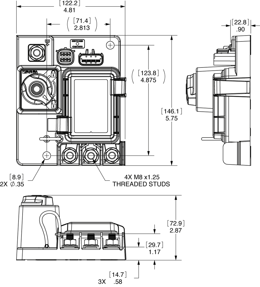 hight resolution of dimensioned drawing