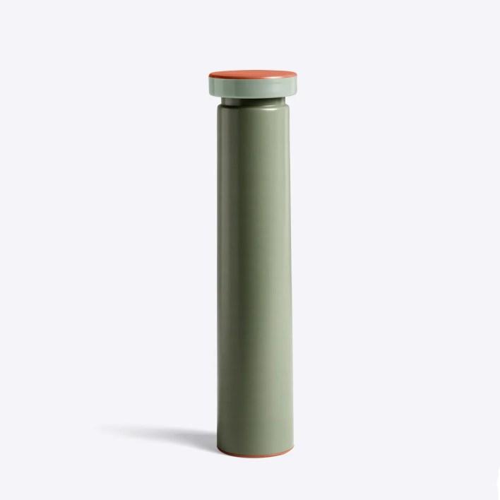 Minimalist design sage green pepper grinder