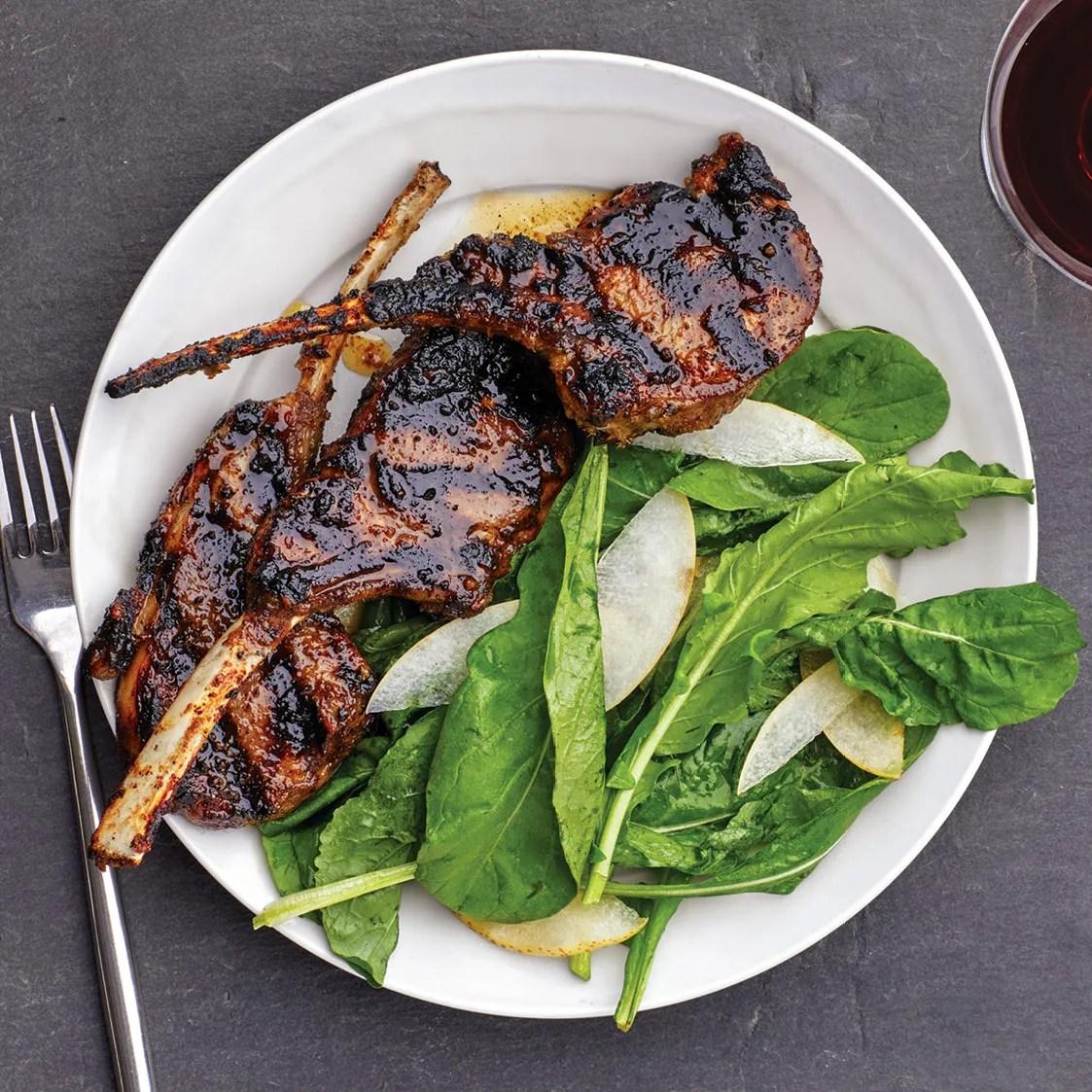 Grilled Lemongrass Lamb Chops recipe