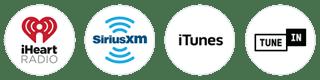iHeartRadio, SiriusXM, iTunes, TuneIn