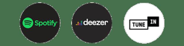 Spotify, Deezer, TuneIn