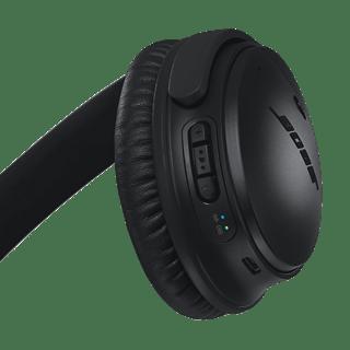 Parte posterior del casco derecho en el que se muestran los botones de multifunción, y los indicadores de Bluetooth y batería