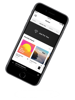 Smartphone displaying the Bose Music app