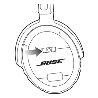 Why is the LED on the headphones blinking?