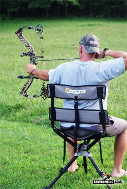 swivel hunting chair reviews wing back recliner huntmore 360 the ultimate hunterusing