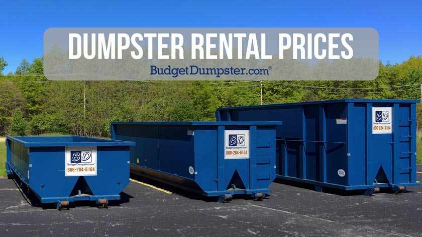 dumpster rentals for less