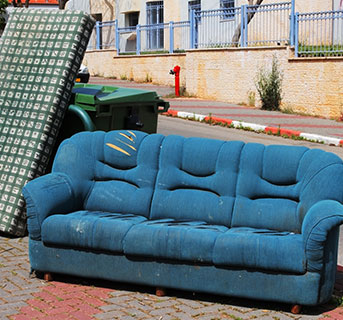 how to recycle my sofa kuka china dispose of furniture budget dumpster leave it at the curb