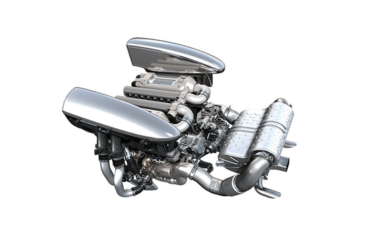 hight resolution of bugatti veyron engine