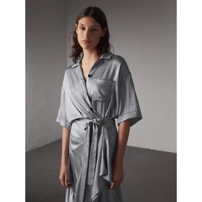 Silk Shirt Dresses for Women