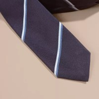 Slim Fit Striped Silk Tie in Navy - Men | Burberry United ...