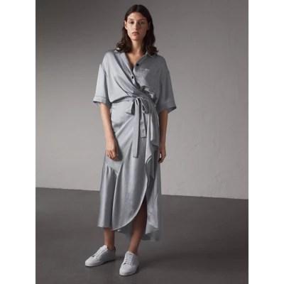 Burberry Silk Shirt Dress