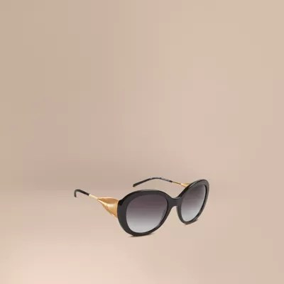 Gabardine Collection Oversize Frame Sunglasses In Black - Women Burberry United States