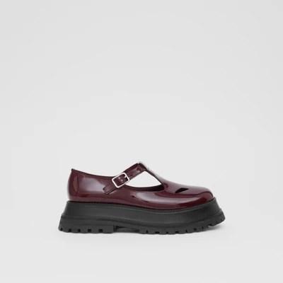 T 字型漆皮鞋 (大不列顛紅) - 女士   Burberry 博柏利