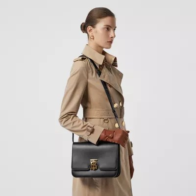 Leather TB Bag in Black  Women  Burberry United Kingdom
