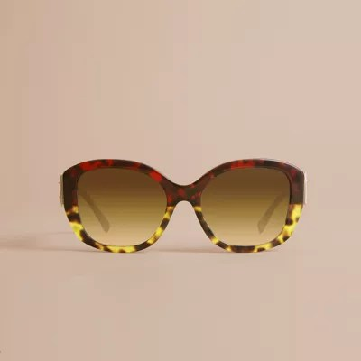 Oversize Yellow Frame Sunglasses
