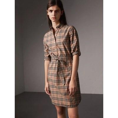 Burberry Check Print Dress Women