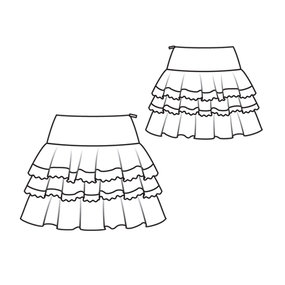 How To Draw A Fashion Skirt Technical Drawing Sketch