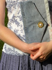 Shabby Chic Clutch Floral with Heart  Sewing Projects ...