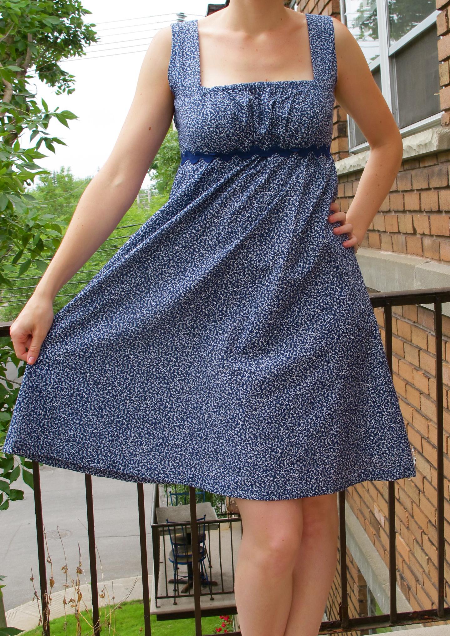Empire Waist Summer Dress Sewing Pattern