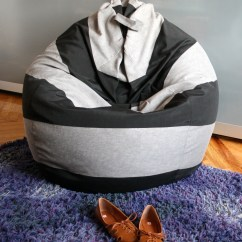 How To Make Bean Bag Chair White Wishbone Replica Striped  Sewing Projects Burdastyle