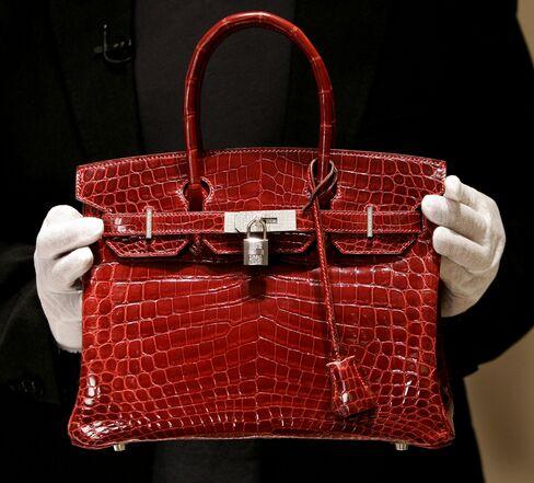 A Hermes Birkin bag.