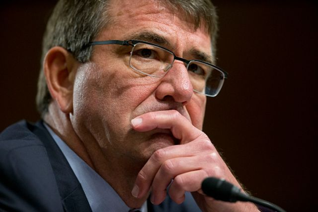 <p>The defense secretary signals a shift. Sort of.</p>  Photographer: Andrew Harrer