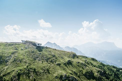 Designed by Zaha Hadid, the Corones museum is the sixth and final building in Messner's series of museums