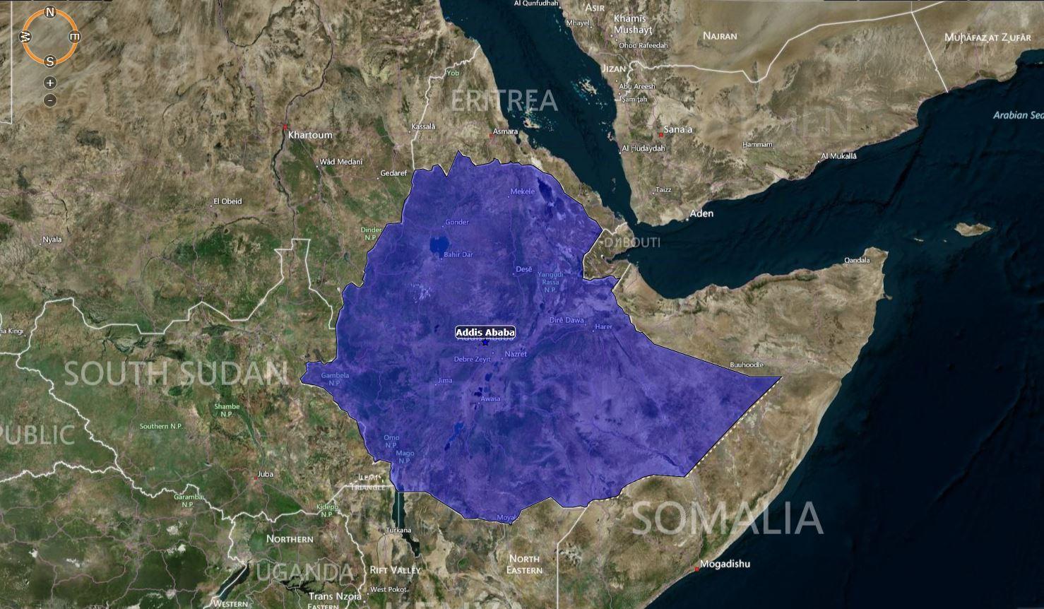 MAP: Ethiopia