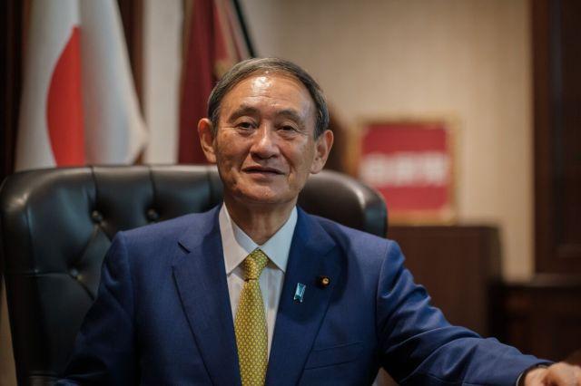 自民党の菅義偉新総裁(9月14日)