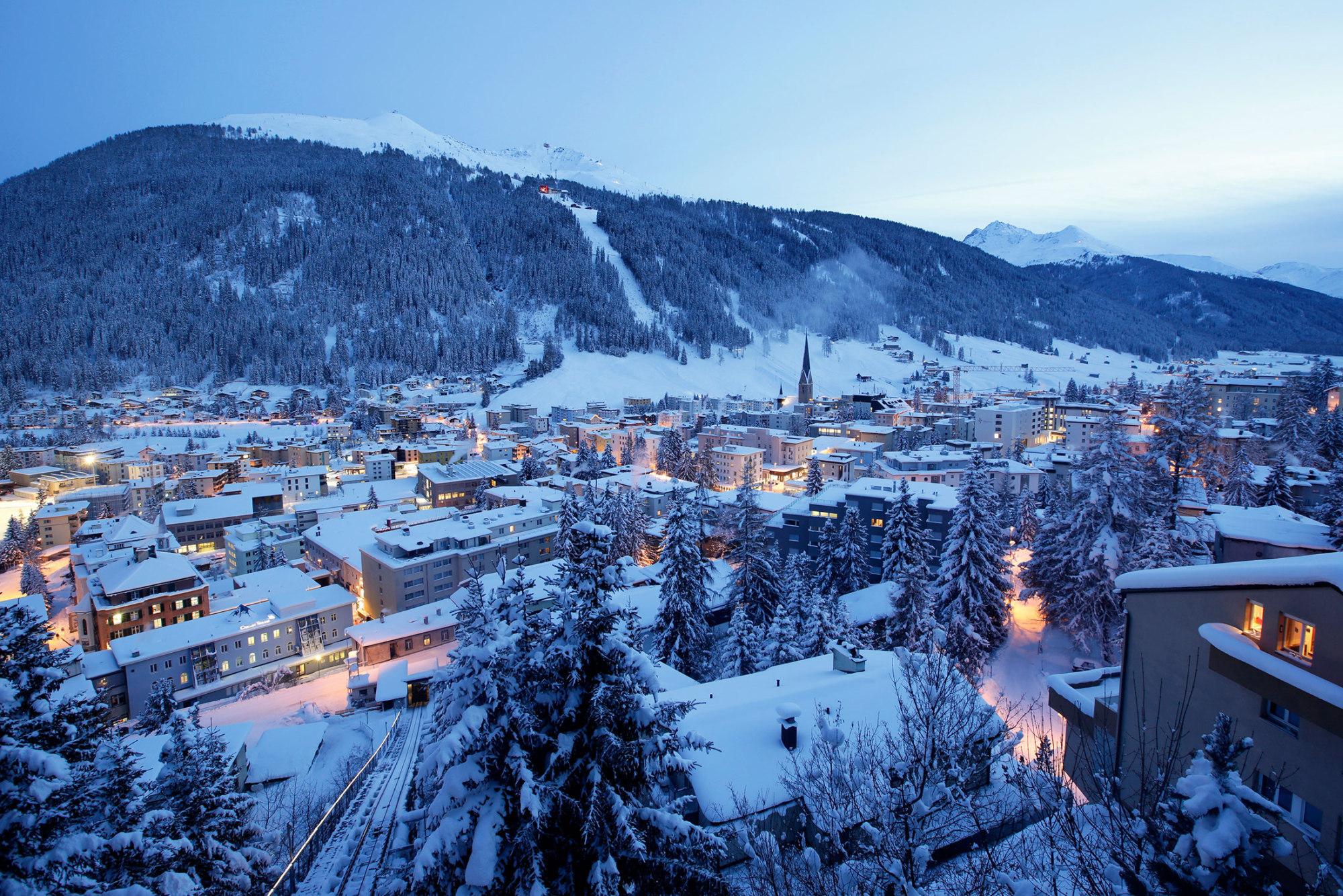 Davos Pictures World Economic Forum Prepares  Bloomberg
