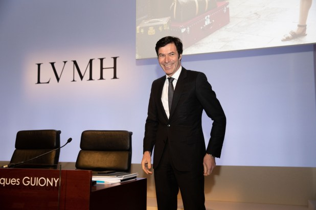 LVMH Moët Hennessy Louis Vuitton SE CEO Bernard Arnault Presenting Income