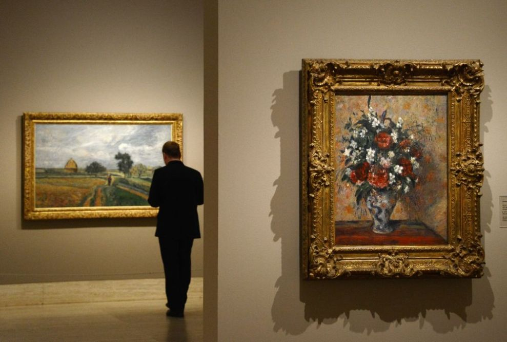 Image result for paintings in a museum