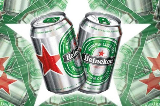 Heineken's New Red Star Beer Cans Want Your Attention - Bloomberg