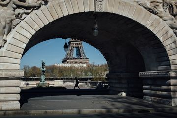 Iconic Landmarks As Parisians Cope With Life Under Lockdown