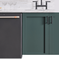 Kitchen Dishwashers Glazed Cabinets Built In Quiet Reliable With Hidden Controls Cafe