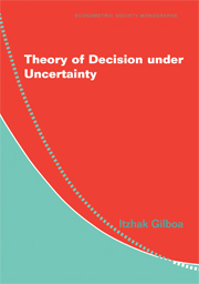 Decision Theory under Uncertainty
