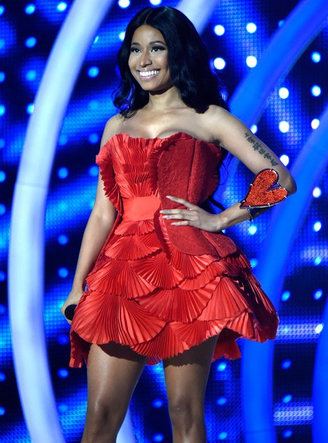 There Was The Red Corset Style Mini Dress She Wore When