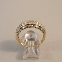 14k (585) solid gold ring with 16 diamonds (0.38 ct