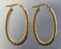 Gold Italian hoop earrings - Catawiki