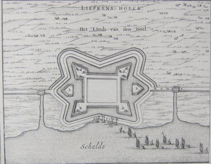 België, Kallo, Fort Liefkenshoek; Joan Blaeu