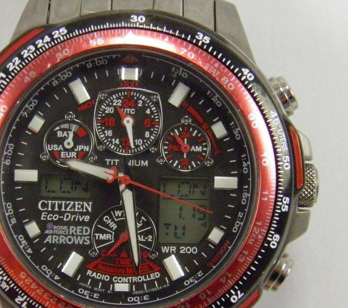 Citizen Eco Drive Red Arrows Skyhawk chronograph U600 – Mens wrist watch - Catawiki