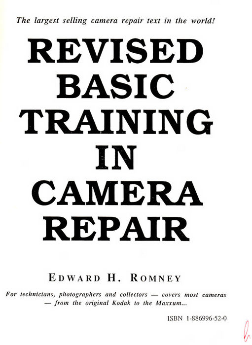 Various (5) camera repair instruction books by, among