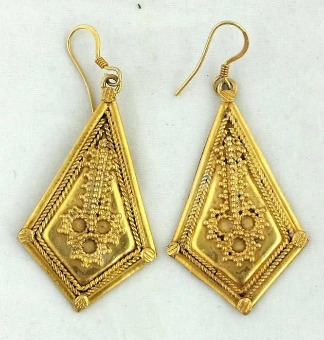 Vintage earrings from North India  Gold