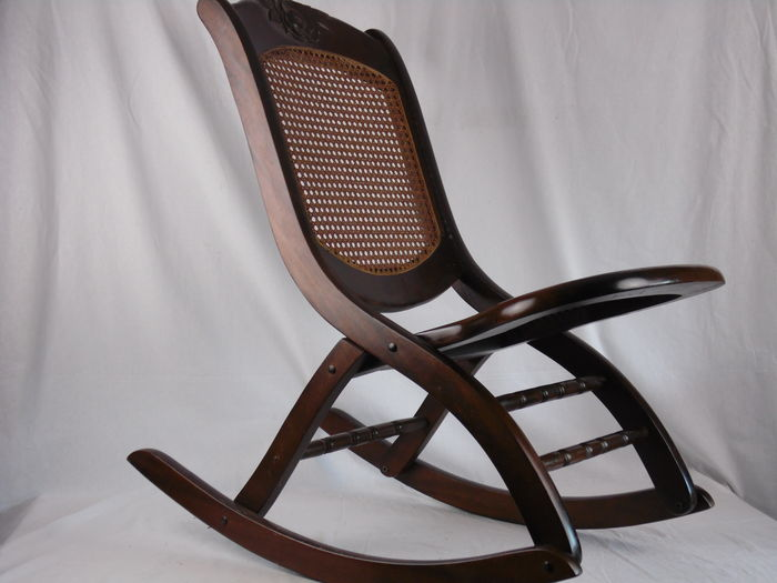 Collapsible vintage rocking chair for children  first