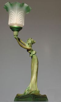 Lamp in art nouveau style, 20th century - Catawiki