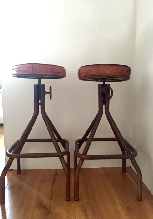 industrial kitchen stools sink covers two 20th century belgium catawiki