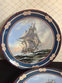 Royal Doulton decorative plates, sailing ships
